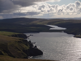 Burra Firth and Loch of Cliff
